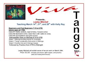 Lesleys lessons in March flyer website version