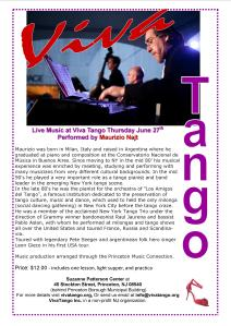 June 27 Milonga Flyer